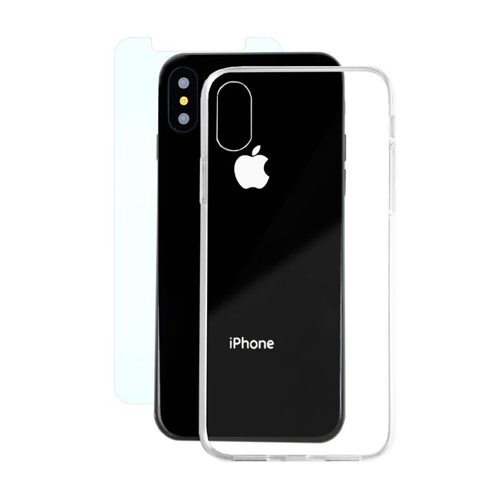 iPhone X ケース AppBank Store特別セット A+ Clear Panel Case/マックスむらいのアンチグレアフィルムセット iPhone X_0