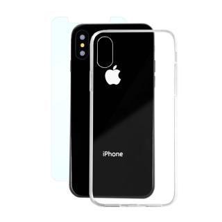 iPhone X ケース AppBank Store特別セット A+ Clear Panel Case/マックスむらいのアンチグレアフィルムセット iPhone X