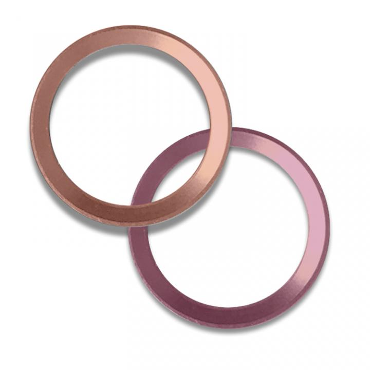 第2世代Touch ID対応ホームボタンリング truffol Layered Ring 2個入り ローズゴールド_0