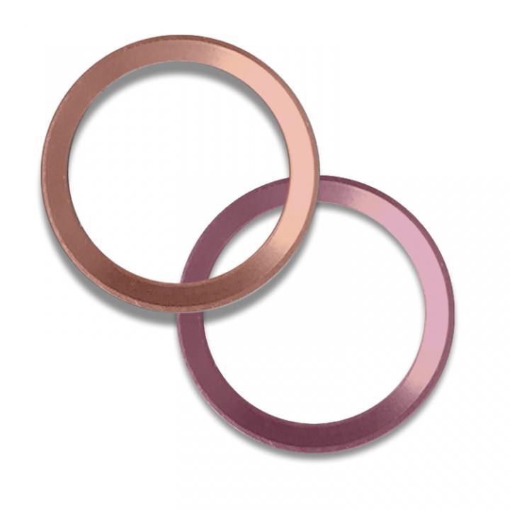 第2世代Touch ID対応ホームボタンリング truffol Layered Ring 2個入り ローズゴールド