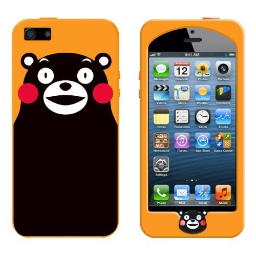 【iPhone SE/5s/5】GWSPC KUMAMON1 ORANGE iPhone5ケース_0