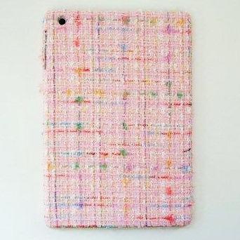 スマホの洋服屋 レインボーツィード ピンク iPad mini/2/3ケース_0