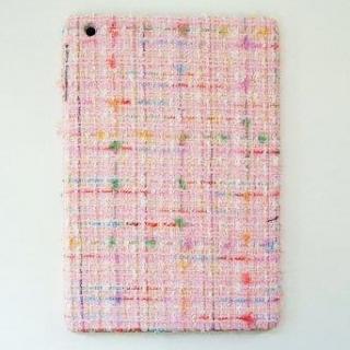 スマホの洋服屋 レインボーツィード ピンク iPad mini/2/3ケース