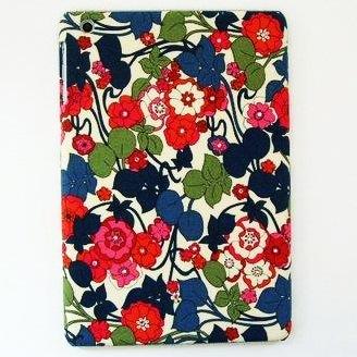 スマホの洋服屋 レトロフラワー レッド iPad mini/2/3ケース_0