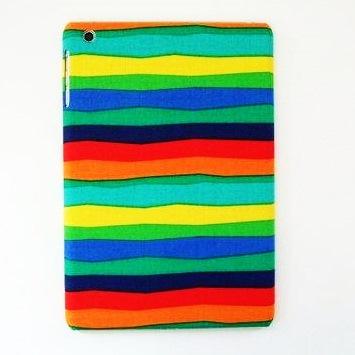 【iPad mini/2/3】スマホの洋服屋 虹色ボーダー