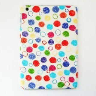 スマホの洋服屋 クレパス水玉 ホワイト iPad mini/2/3ケース