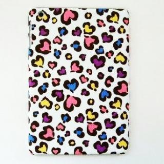 スマホの洋服屋 ハートヒョウ ホワイト iPad mini/2/3ケース
