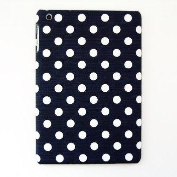 スマホの洋服屋 10mmドット ネイビー iPad mini/2/3ケース_0