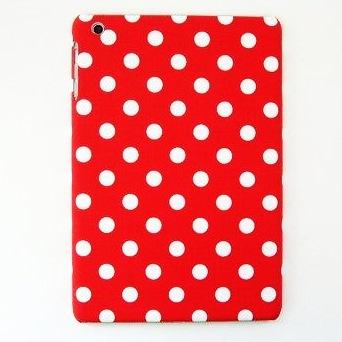 スマホの洋服屋 10mmドット レッド iPad mini/2/3ケース_0