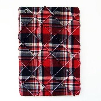 【iPad mini/2/3】スマホの洋服屋 ピンタックチェック レッド_0