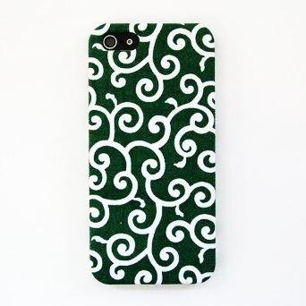 【iPhone5】スマホの洋服屋 唐草 グリーン