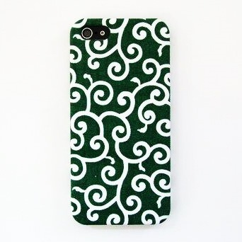 iPhone SE/5s/5 ケース 【iPhone5】スマホの洋服屋 唐草 グリーン_0