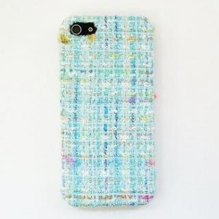 【iPhone SE/5s/5ケース】スマホの洋服屋 レインボーツィード ブルー iPhone SE/5s/5ケース