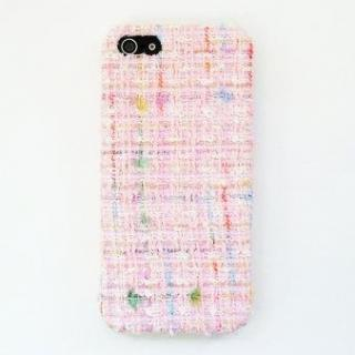 スマホの洋服屋 レインボーツィード ピンク iPhone SE/5s/5ケース