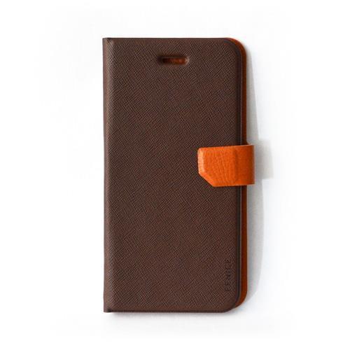 スリム&フィット手帳型ケース ブラウン iPhone 6s/6ケース