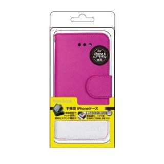 【iPhone6ケース】kuboq 合皮手帳型ケース ツートーン  ピンク/ホワイト iPhone 6ケース_1