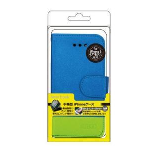 【iPhone6ケース】kuboq 合皮手帳型ケース ツートーン ブルー/グリーン iPhone 6ケース_1