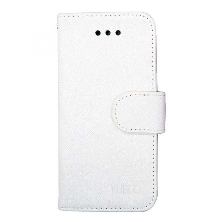 【iPhone6ケース】kuboq 合皮手帳型ケース ホワイト iPhone 6ケース_0
