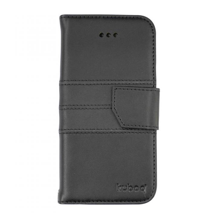 iPhone6 Plus ケース kuboq 本革手帳型ケース ブラック iPhone 6 Plusケース_0