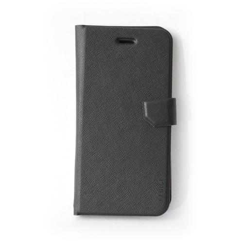 【iPhone6ケース】スリム&フィット手帳型ケース ブラック iPhone 6ケース_0