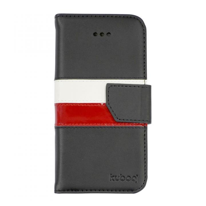 iPhone6 Plus ケース kuboq 本革手帳型ケース ブラック/レッド/ホワイト iPhone 6 Plusケース_0