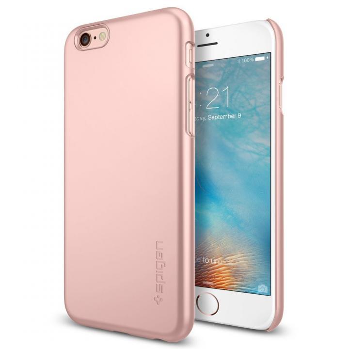 【iPhone6s/6ケース】Spigen 薄型ハードケース Thin Fit ローズゴールド iPhone 6s_0