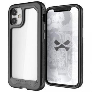 iPhone 12 mini (5.4インチ) ケース アトミックスリム3 クリアバック×アルミフレーム ブラック iPhone 12 mini
