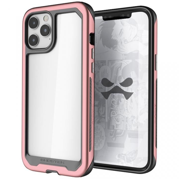アトミックスリム3 クリアバック×アルミフレーム ピンク iPhone 12 Pro Max_0