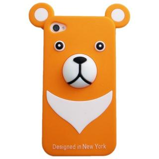 iPhone4s/4 Full Protection Silicon Bear, Orange