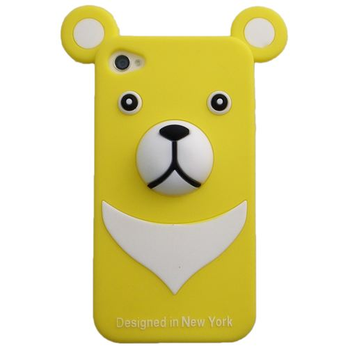 iPhone4s/4 Full Protection Silicon Bear, Yellow_0