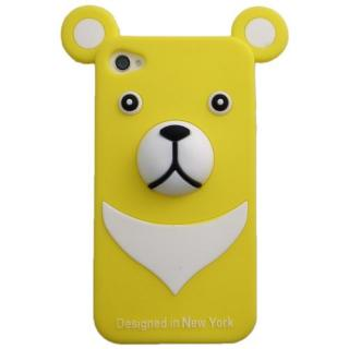 iPhone4s/4 Full Protection Silicon Bear, Yellow