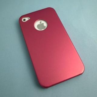 iPhone4s/4 メタルケース レッド
