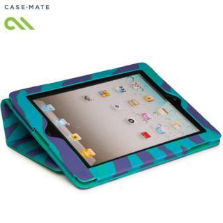 Case-Mate iPad (第2,3,4世代) Slim Stand Emerald Zebra キャンバスケース