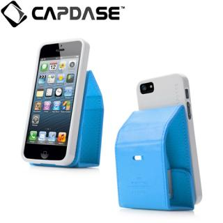 【iPhone SE/5s/5ケース】CAPDASE iPhone SE/5s/5 用 Folder Upper Polka ブルー/グレー 手帳型ケース_1