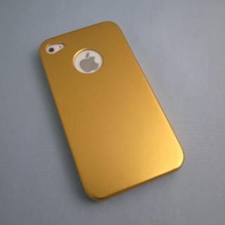 iPhone4s/4 メタルケース ゴールド
