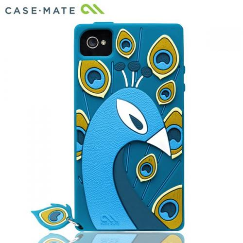 iPhone4s/4 Creatures: Peacock Case, Teal