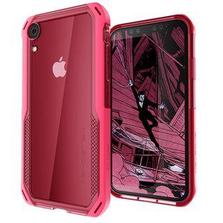 クローク4 ハイブリッドクリア背面ケース ピンク iPhone XR【10月下旬】