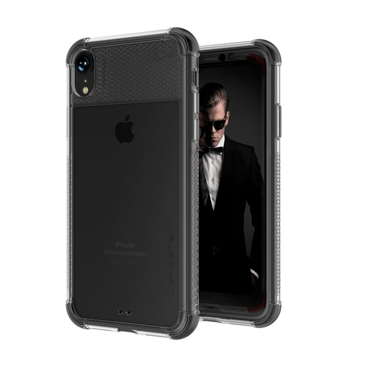 iPhone XR ケース コバート2 クリア背面ケース ブラック iPhone XR_0