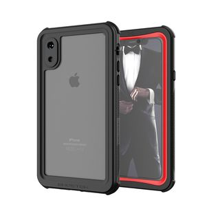 【iPhone XSケース】ノーティカル IP68耐衝撃/防水/防雪/防塵ケース  レッド iPhone XS