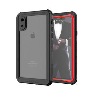 iPhone XS ケース ノーティカル IP68耐衝撃/防水/防雪/防塵ケース  レッド iPhone XS