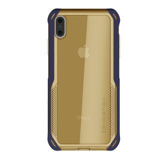 【iPhone XS Maxケース】クローク4 ハイブリッドクリア背面ケース ブルー iPhone XS Max【10月下旬】_2