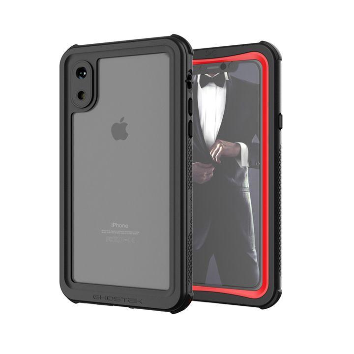 iPhone XS ケース ノーティカル IP68耐衝撃/防水/防雪/防塵ケース  レッド iPhone XS_0