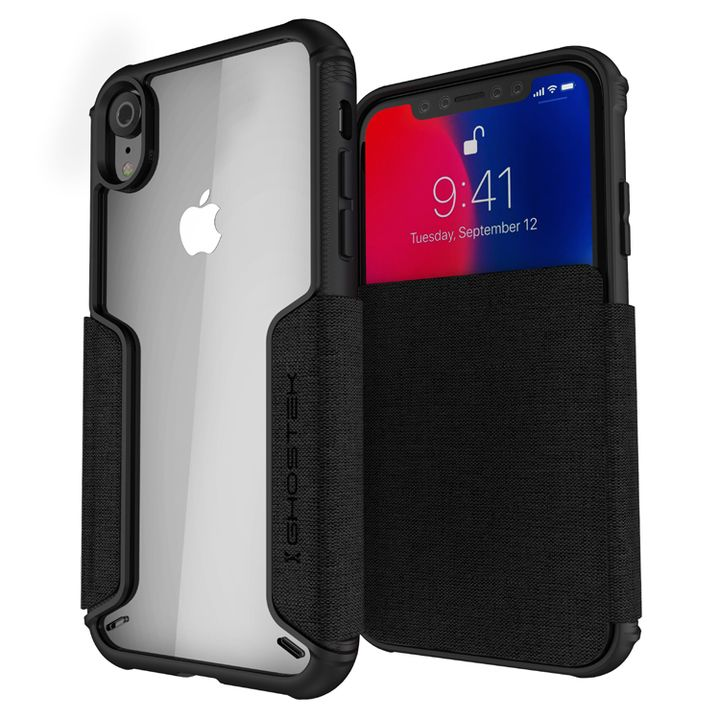 【iPhone XRケース】エグゼク3 背面ケース ブラック iPhone XR_0