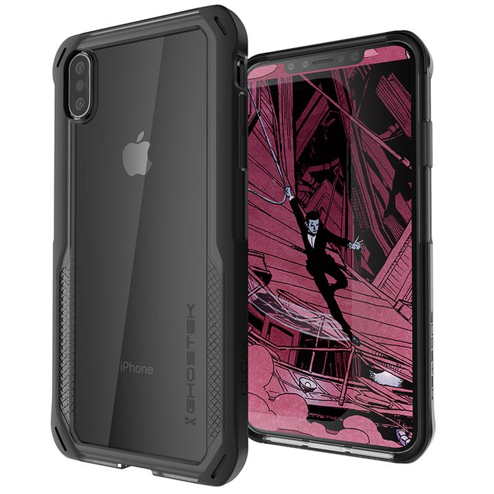 iPhone XS Max ケース クローク4 ハイブリッドクリア背面ケース ブラック iPhone XS Max_0