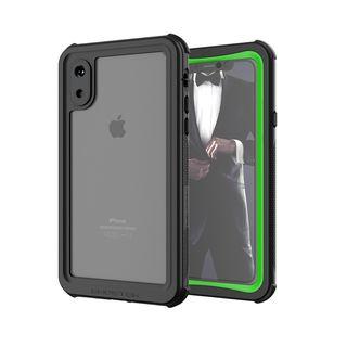 iPhone XS ケース ノーティカル IP68耐衝撃/防水/防雪/防塵ケース  グリーン iPhone XS