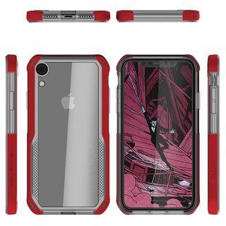 【iPhone XRケース】クローク4 ハイブリッドクリア背面ケース レッド iPhone XR【10月下旬】_1