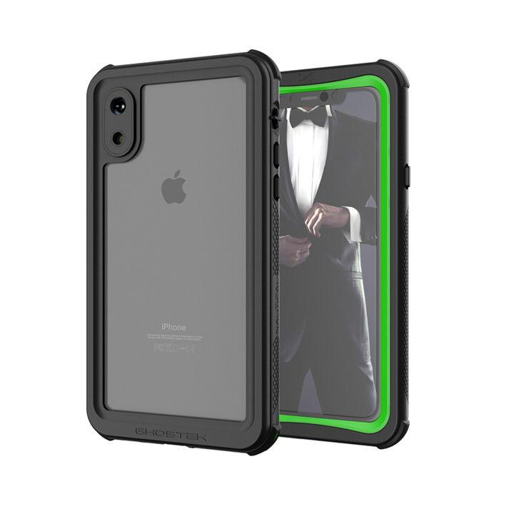iPhone XS ケース ノーティカル IP68耐衝撃/防水/防雪/防塵ケース  グリーン iPhone XS_0