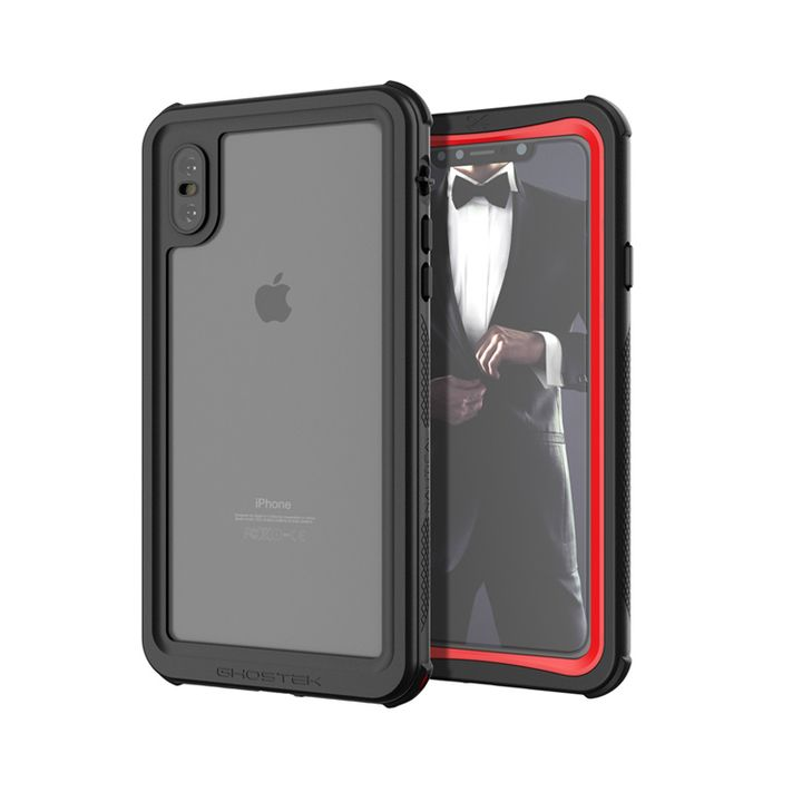 iPhone XS Max ケース ノーティカル IP68耐衝撃/防水/防雪/防塵ケース  レッド iPhone XS Max_0