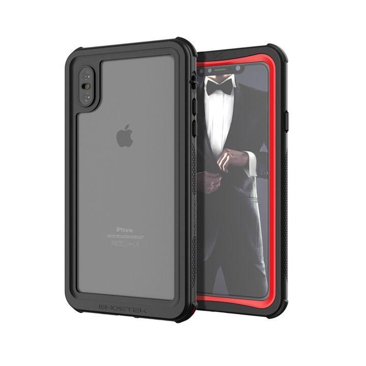 【iPhone XS Maxケース】ノーティカル IP68耐衝撃/防水/防雪/防塵ケース  レッド iPhone XS Max_0
