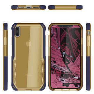 【iPhone XS Maxケース】クローク4 ハイブリッドクリア背面ケース ブルー iPhone XS Max【10月下旬】_1